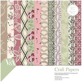 V & amp; Een papier Pack 8 in x 8 in FSC Chintz weefsel en Lace patronen | 36 vellen