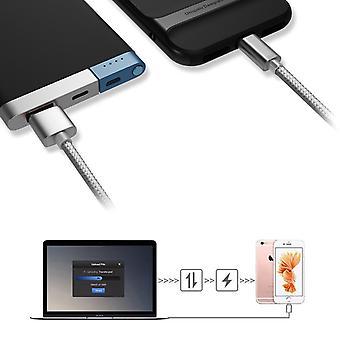 Kit Me Out USB Typ C, 3.1 Amp USB C Fast Charge Nylon geflochtenes Kabel kompatibel mit Huawei Mate 20 Lite, Ladedaten Sync Kabel BleiKabel