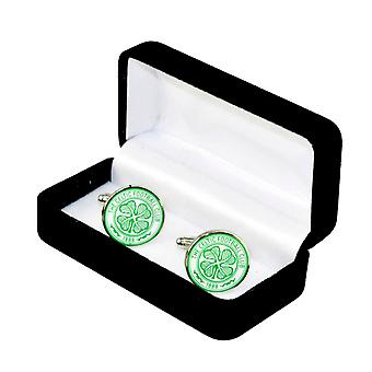 Celtic FC Official Metal Football Crest Cufflinks