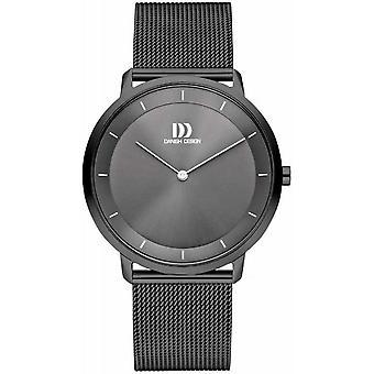 Dansk design IQ66Q1258 menn ' s grå stål mesh armbåndsur