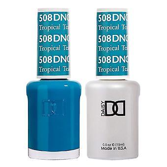 DND Duo Gel & Nail Polish Set - Tropical Teal 508 - 2x15ml