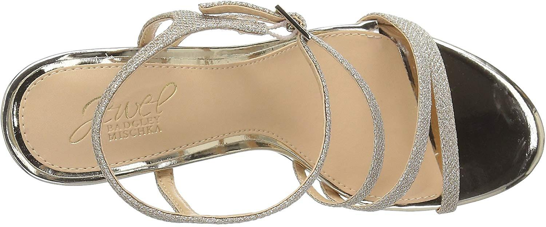 Jewel Badgley Mischka Kvinner ' S Maddison Sandal, Gull Glitter, M060 M Us