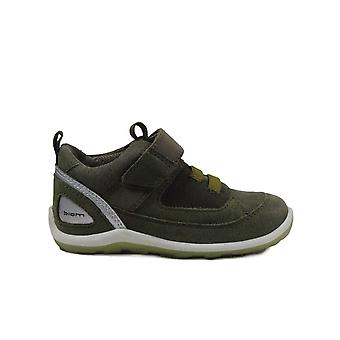 Ecco Biom Mini Shoe 753921 01076 Green Leather Boys Rip Tape Ankle Boots