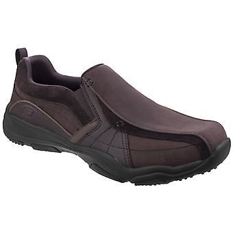 Skechers Larson Berto Mens Leather Loafers Dark Brown