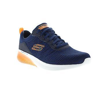 Skechers Air Ultra Flex menns blå mesh atletisk blonder opp walking sko