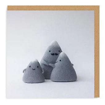 Ohh Deer Mountain Family Square Greeting Card