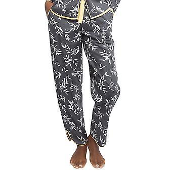 Cyberjammies 4348 Frauen's Willow grau Bambus Blatt Druck Baumwolle Pyjama Hose