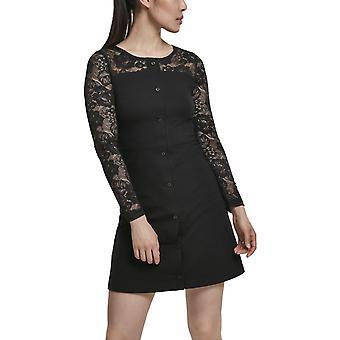 Urban Classics Ladies - LACE BLOCK lace dress black