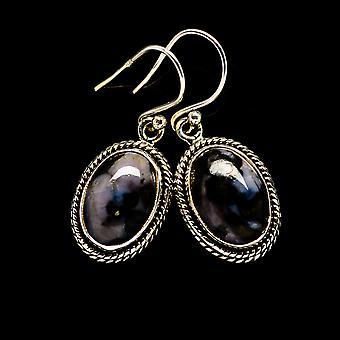 """Gabbro stenen oorbellen 1 1/4 """"(925 sterling zilver)-handgemaakte Boho vintage sieraden EARR393739"""