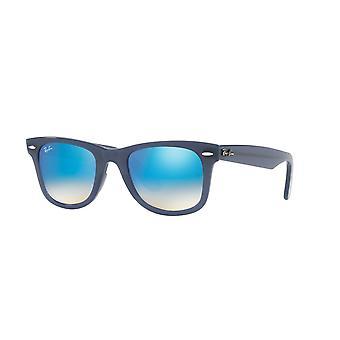 Ray-Ban neue Original Wayfarer RB4340 6232/4O blau/braun Farbverlauf-braun Spiegel Sonnenbrille