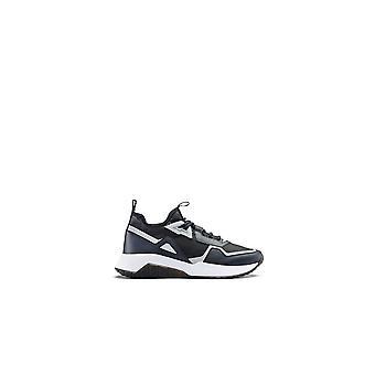 Hugo Boss Footwear Atom_runn Nylon Navy Patterned Trainer
