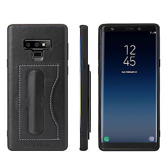 Für Samsung Galaxy Note 9 Fall Luxus Leder Telefon Cover Kickstand, schwarz
