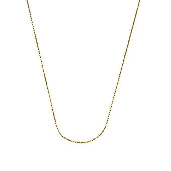 10k Yellow Gold 0.85mm Light Weight Rope Chain Necklace Lobster Claw Closure Jewelry Gifts for Women - Length: 16 to 20