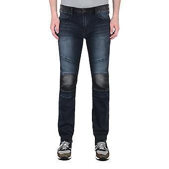 Prawdziwa religia Rocco Moto Dark Blue Slim Fit Jeans