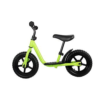 RideonToys4u Balance Bike With 12 Inch EVA Wheels and Footrest Green Ages 2-5