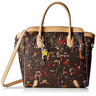 piero drive Teresa Tote Bag Big Bag Donna Brown (Moro Head) 34x31x14 cm (W x H x L)