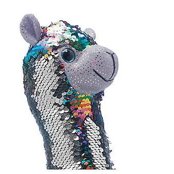 Christmas Shop 33cm Reversible Sequin Llama Plush Toy