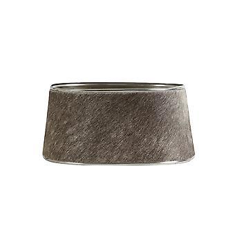 Light & Living Shade Oval 35x30x17cm Cowskin Grey