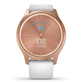 Garmin Watches 010-02240-00 Vivomove Style Rose Gold Aluminium Case And White Silicone Watch