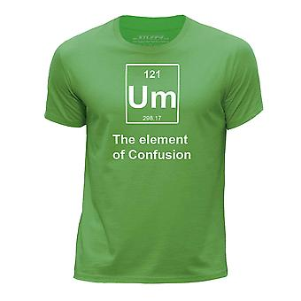 STUFF4 Boy's Round Neck T-Shirt/Funny Periodic Element/Confusion/Green