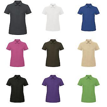 B & C נשים/מזהה נשים. 001 חולצת פולו שרוול קצר רגיל