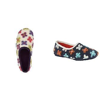 Sleepers Womens/Ladies Gracie Floral Knitted Slipper