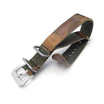 Strapcode n.a.t.o hodinky popruh zulu g10 20mm, 22mm miltat grezzo sq hodinky popruh lesní kamufláž geniune tele, pískované