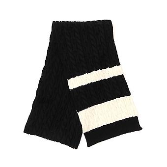 Saint Laurent 5840464y2061078 Uomini's Sciarpa di lana bianca/nera