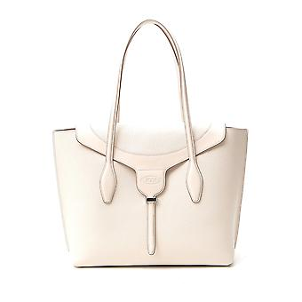 Tod's Xbwanxa8300n95c016 Women's Beige Leather Tote