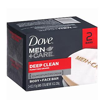 Dove men+care body and face bar, deep clean, 4 oz, 2 ea