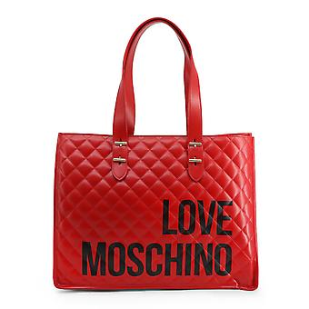 Love Moschino Original Women Fall/Winter Shopping Bag - Red Color 37948
