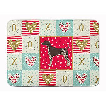 German Shorthaired Pointer Love Machine Washable Memory Foam Mat