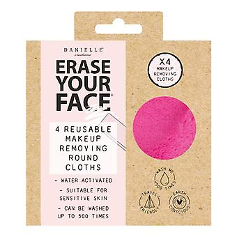 Danielle Erase Your Face Makeup Removing Pads 4 Pack - Brights