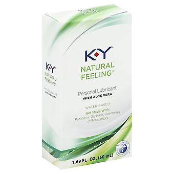 K-y natural feeling with aloe vera lubricant, 2 oz