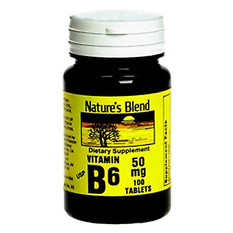 Nature's blend b6, 50 mg, tablets, 100 ea