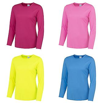 AWDis Just Cool Womens/Ladies Girlie Long Sleeve T-Shirt