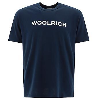 Woolrich Wote0024mrut14863989 Men's Blue Cotton T-shirt