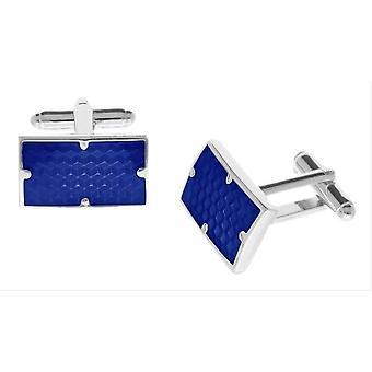 Duncan Walton Combe Enamel Cufflinks - Blue