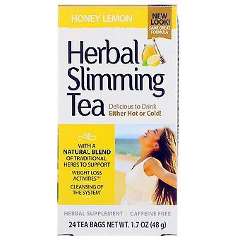 21St century herbal slimming tea, honey lemon, 24 ea