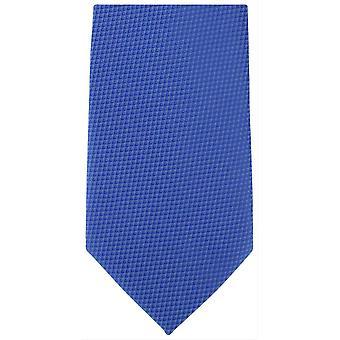 Michelsons van Londen Semi Plain Extra lange Polyester binden - Royal Blue