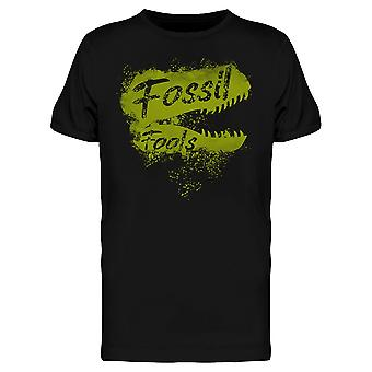 Fossil Fools Fuels Dinosaur Funny Climate Change Awareness Men's T-shirt
