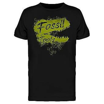 Fossil Fools Fuels Dinosaur Funny Climate Change Awareness Men es T-Shirt