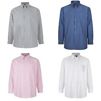 Kam Jeanswear Mens Long Sleeve Oxford Shirt