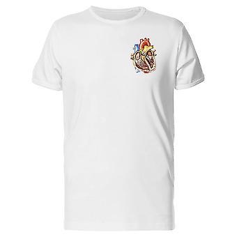 Medizinische Zeichnung Herz T-Shirt Männer-Bild von Shutterstock