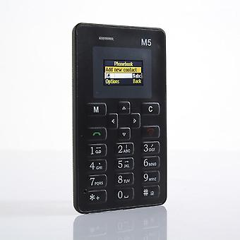 AEKU M5 Mini Ultra Tynd mobiltelefon sort