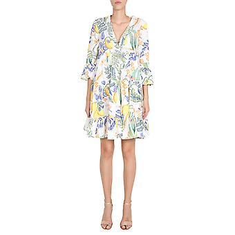 La Double J Dre0164cot001bot0001 Women's White Cotton Dress