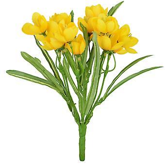 28cm Yellow Artificial Crocus Silk Flower Bush for Floristry Crafts