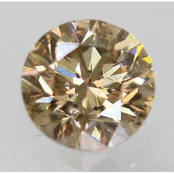 Cert 0.74 Carat Natural Fancy Brown VVS2 Round Brilliant Natural Diamond 5.67mm