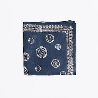Circolo 1901 - Big Circle Print Pocket Square - Navy