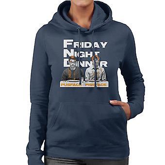 Friday Night Dinner Pusface And Pissface Women's Hooded Sweatshirt